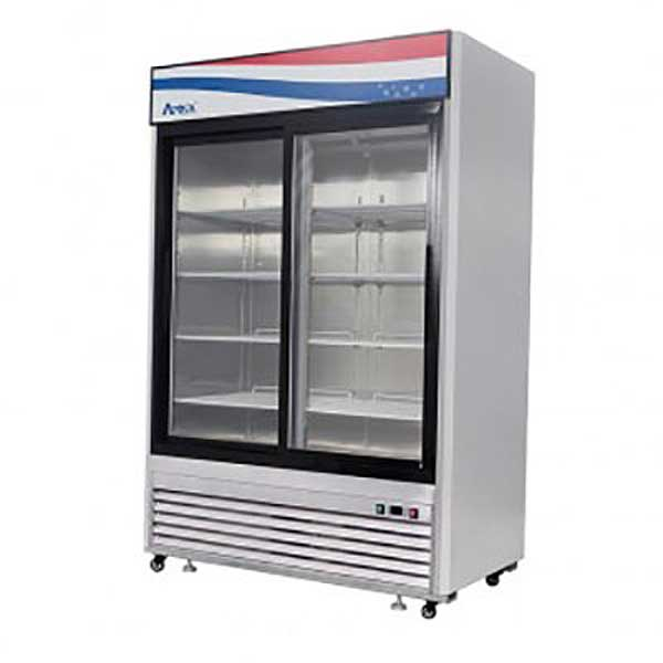 "Atosa Refrigerator Merchandiser Two-section 54.41""W X 29.13""D X 84.06""H - MCF8709GR"