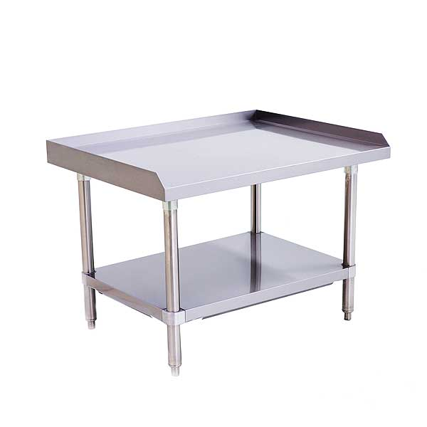 """Atosa MixRite Equipment Stand 36""""W X 28""""D X 24""""H Stainless Steel Top With Upturn On Rear & Sides - ATSE-2836"""