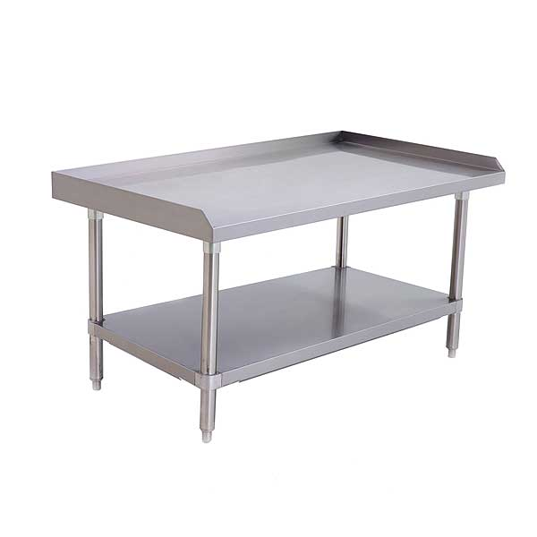 """Atosa MixRite Equipment Stand 48""""W X 28""""D X 24""""H Stainless Steel Top With Upturn On Rear & Sides - ATSE-2848"""
