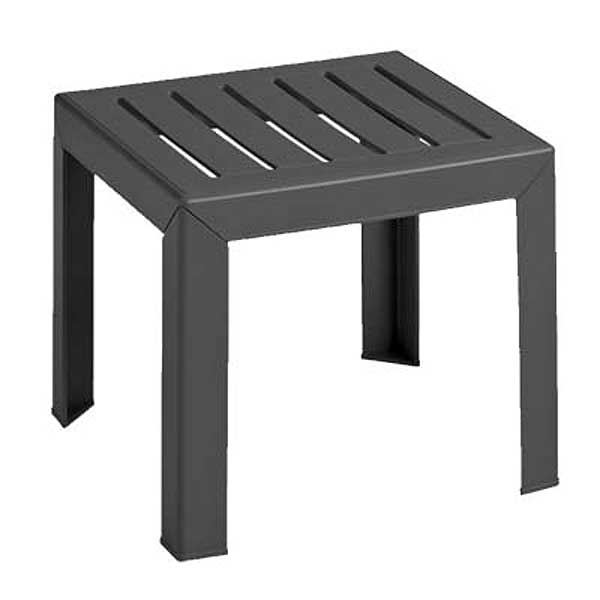 "Grosfillex Bahia Outdoor Low Table 16"" X 16"" Square - CT052002"