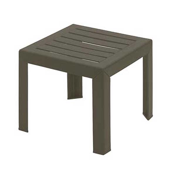 "Grosfillex Bahia Outdoor Low Table 16"" X 16"" Square - CT052037"