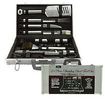 Mr. BBQ Premium 21 Piece Stainless Steel Barbecue Tool Set