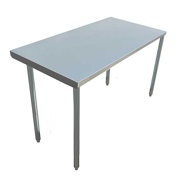 "BevLes Work Table 48""W X 30""D X 34""H 16/304 Stainless Steel Top - BT163F3048O"