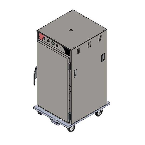 BevLes Climate Select Humidity Controlled Heated Holding Cabinet Mobile 3/4 Height - HCSS60W94