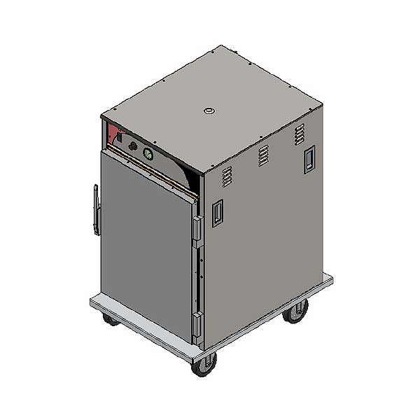 BevLes Temper Select Humidity Controlled Heated Holding Cabinet Mobile Half Height - HTSS44P84