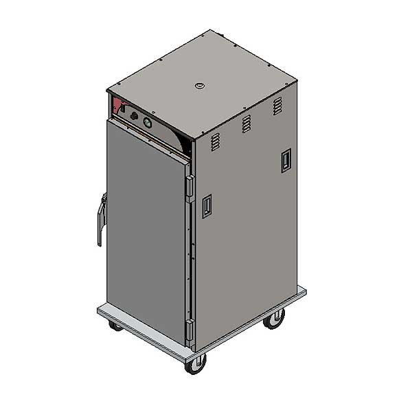 BevLes Temper Select Humidity Controlled Heated Holding Cabinet Mobile 3/4 Height - HTSS60P121