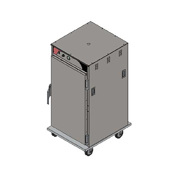 BevLes Temper Select Humidity Controlled Heated Holding Cabinet Mobile 3/4 Height - HTSS60W94