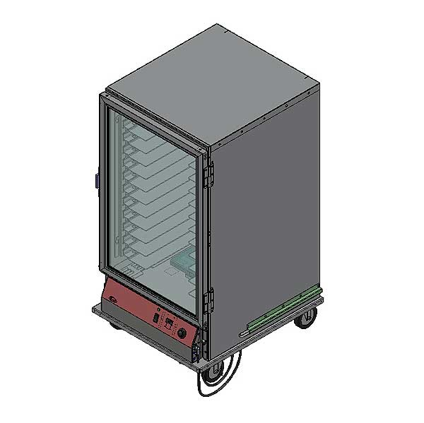 BevLes Proofing Cabinet Mobile 3/4 Height Insulated Models