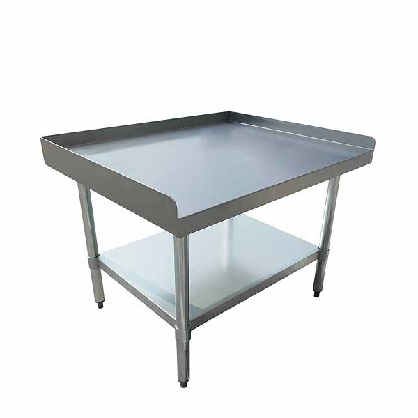 "BevLes Equipment Stand 36""W X 30""D X 24""H 18/430 Stainless Steel Top - BES184U3036G"