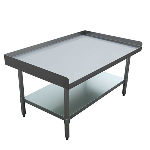 """BevLes Equipment Stand 48""""W X 30""""D X 24""""H 18/430 Stainless Steel Top - BES184U3048G"""