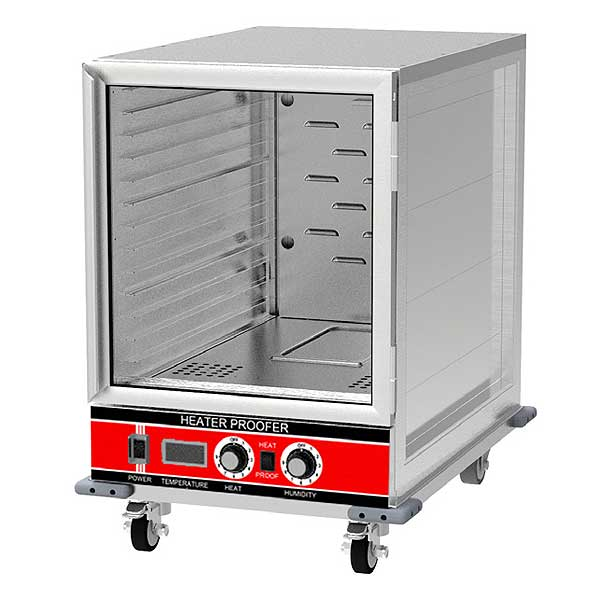 BevLes Heated Proofer & Holding Cabinet Mobile Half Height - HPC-3414