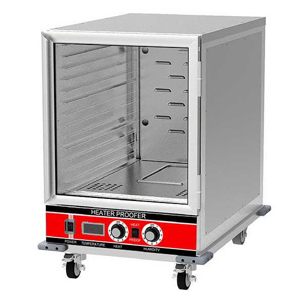 BevLes Heated Proofer & Holding Cabinet Mobile Half Height - HPIS-3414