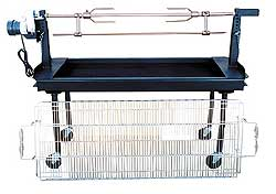 Combination Charcoal Grill and Rotisserie Package With Rotisserie Skewer - M-250B