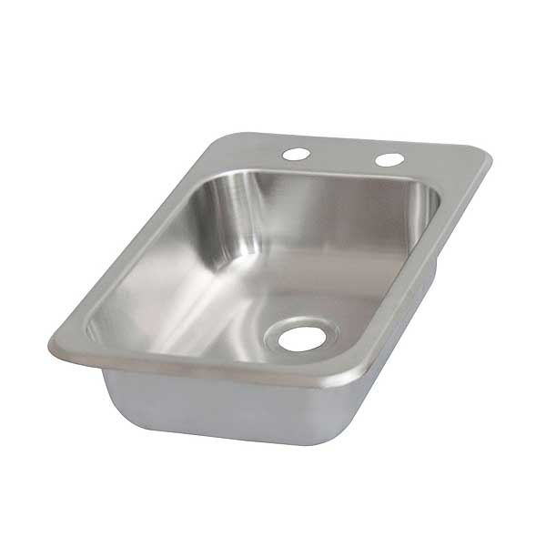 "BK Resources Drop-In Sink One Compartment 12-1/8""W X 18-1/2""D X 5""H - BK-DIS-1014-5D"
