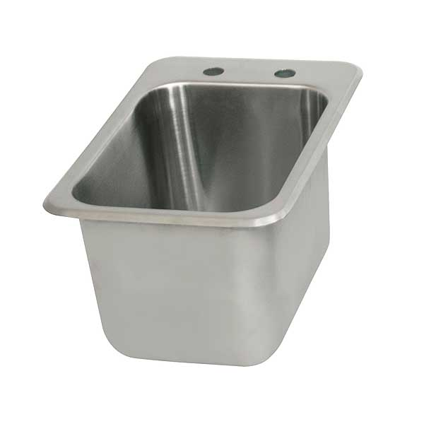 "BK Resources Drop-In Sink One Compartment 12-1/8""W X 18-1/2""D X 9""H - BK-DIS-1014"