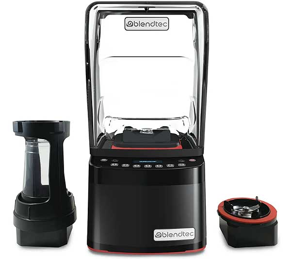 Blendtec Commercial Stealth 895 NBS 2.0 Countertop Foam / Frothing Blender Package - SNBS2C2901-B1L