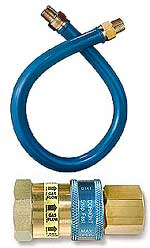 "Dormont Gas Quick Disconnect, 48 Inch Hose With 3/4"" Diameter"