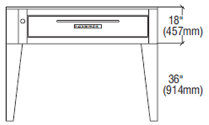 """Bakers Pride Pizza Oven Deck-Type (1) 57"""" - EP-1-8-5736"""