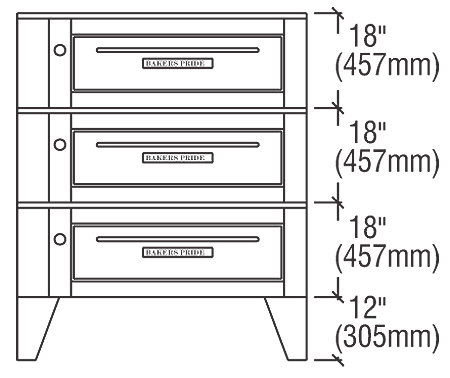 "Bakers Pride Pizza Oven Deck-Type (2) 38"" - EP-2-8-3836"
