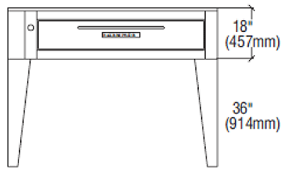 "Bakers Pride Pizza Oven Deck-Type (3) 57"" - EP-3-8-5736"