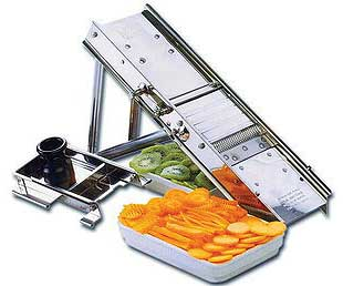 Stainless Steel Bron Coucke Mandoline Slicer/Cutter/Shredder