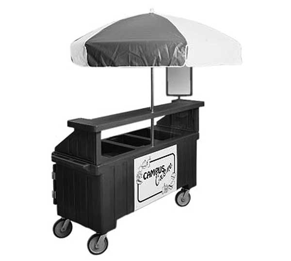 Cambro Camcruiser Vending Cart 74-1/2-inches X 31-3/4-inches X 94-inches H (3) Full Size Counter Top Wells - CVC72192