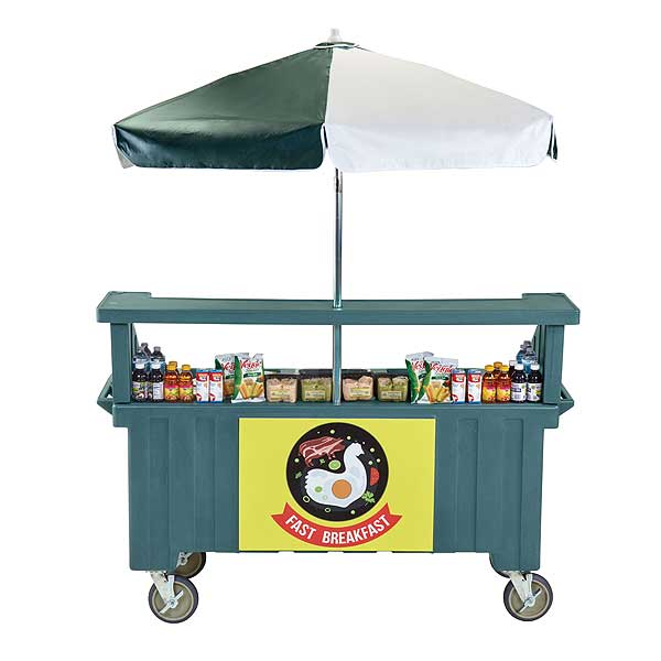 Cambro Camcruiser Vending Cart 74-1/2-inches X 31-3/4-inches X 94-inches H (4) Full Size Counter Top Wells - CVC724192