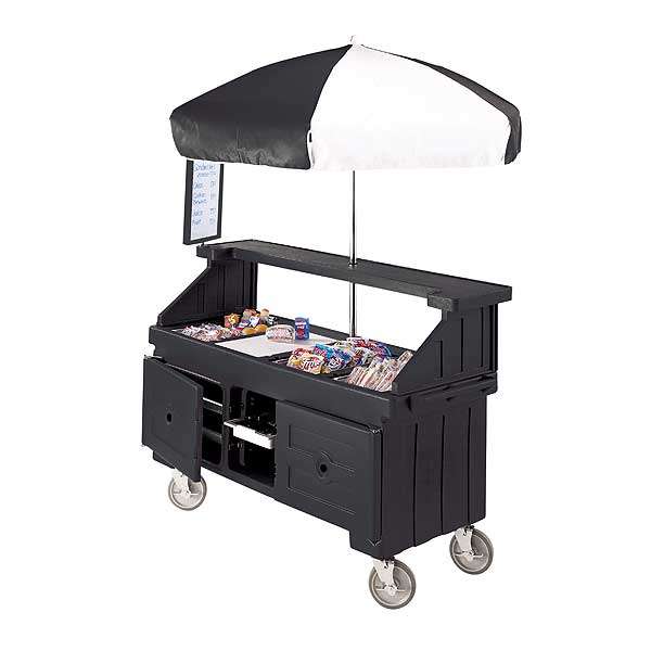 Cambro Camcruiser Vending Cart 74-1/2-inches X 31-3/4-inches X 94-inches H (4) Full Size Counter Top Wells - CVC724110