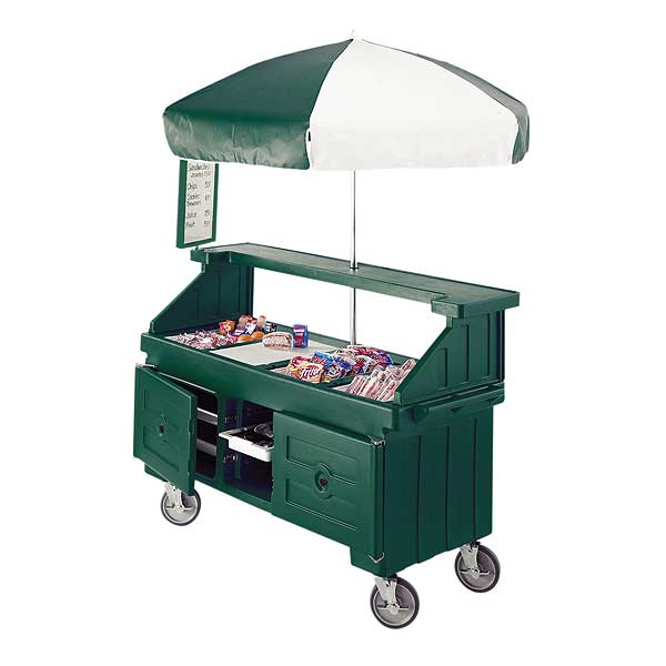 Cambro Camcruiser Vending Cart 74-1/2-inches X 31-3/4-inches X 94-inches H (4) Full Size Counter Top Wells - CVC724519