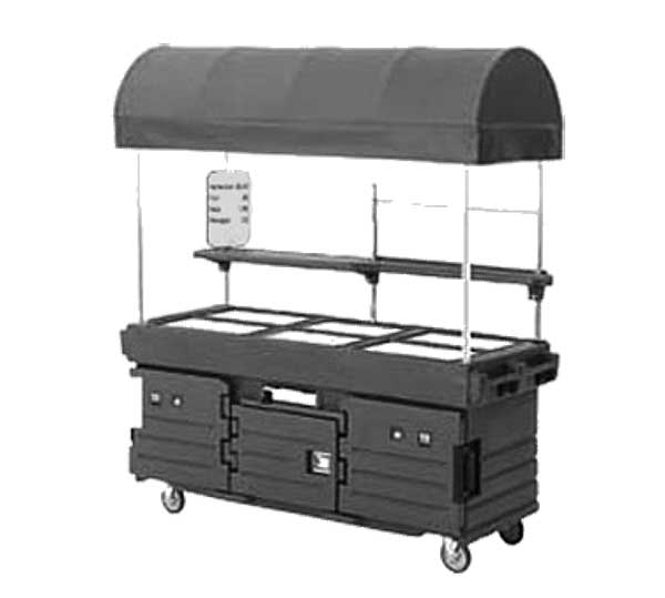 Cambro CamKiosk Cart With 6 Pan Wells And Kentucky Green Canopy 85-1/8-inches X 33-1/2-inches X 94-inches - KVC856C519