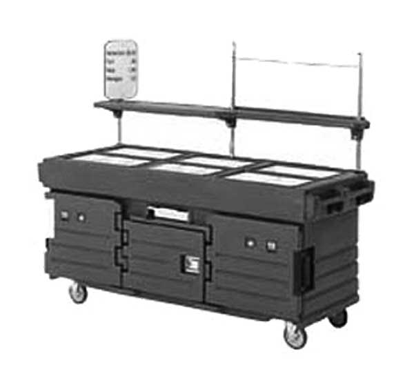 Cambro CamKiosk Cart With 6 Pan Wells 85-1/8-inches X 33-1/2-inches X 70-1/2-inches - KVC856191