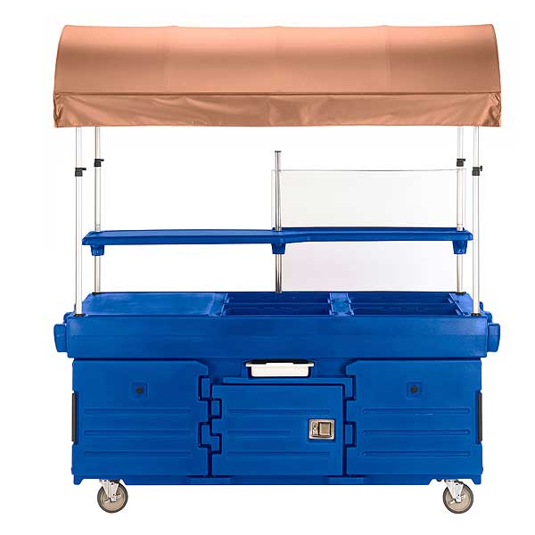 Cambro CamKiosk Cart With 4 Pan Wells And Beige Canopy 85-1/8-inches X 33-1/2-inches X 94-inches - KVC854C186