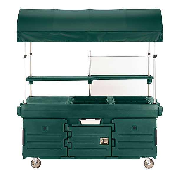 Cambro CamKiosk Cart With 4 Pan Wells And Kentucky Green Canopy 85-1/8-inches X 33-1/2-inches X 94-inches - KVC854C519