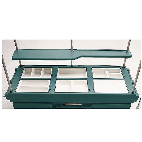 Cambro CamKiosk Cart With 6 Pan Wells 85-1/8-inches X 33-1/2-inches X 70-1/2-inches - KVC856192
