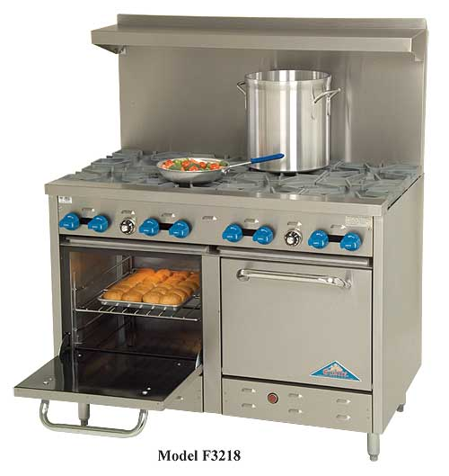 Comstock Castle F3218 Series 48 Inch Range With 2 Space Saver Ovens