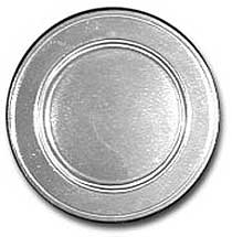 Bon Chef Rimmed Salad Plates with Pewter Glo Finish - Case of 6