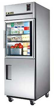 Deep Top Mount Glass / Half Solid Door Refrigerator
