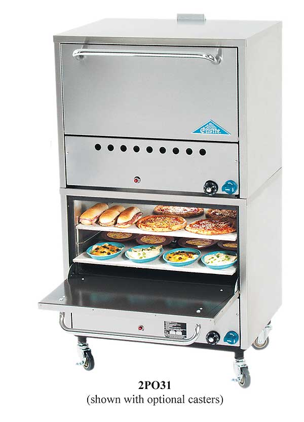 Comstock-Castle Double Stacked Pizza Oven