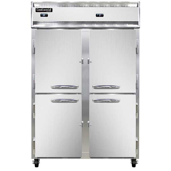 Continental Refrigerator/Freezer Reach-in Two-section - 2RF-SS-HD