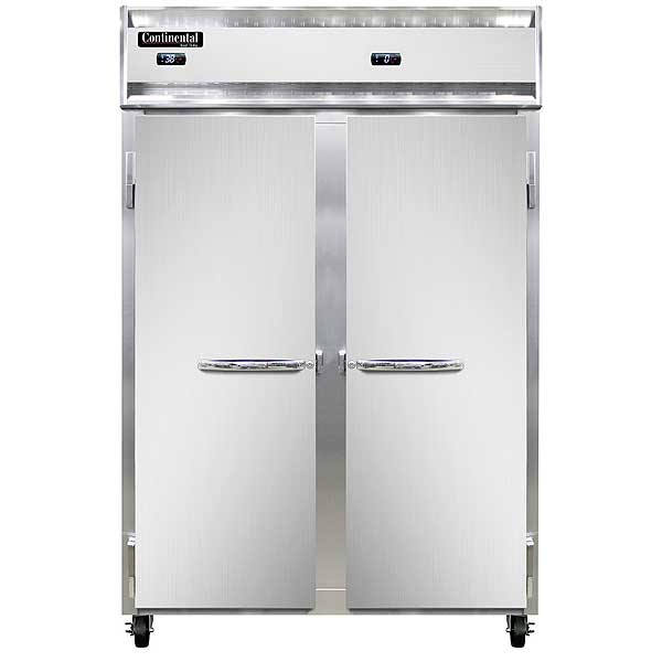 Continental Refrigerator/Freezer Reach-in Two-section - 2RF-SS