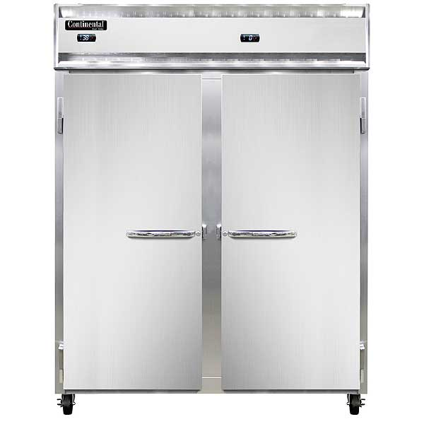 "Continental Extra-Wide Refrigerator/Freezer Reach-in 57""W - 2RFE-SA"