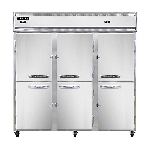 Continental Refrigerator/Freezer Reach-in Three-section - 3RRF-SS-HD