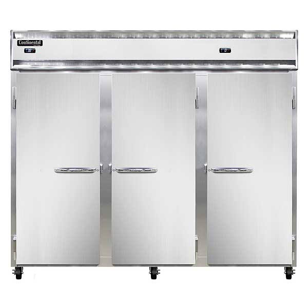 "Continental Extra-Wide Refrigerator/Freezer Reach-in 85-1/2""W - 3RRFE-SS"