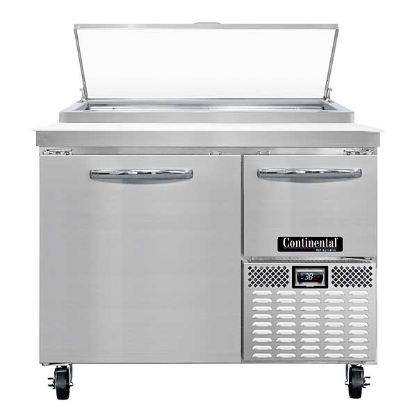 "Continental Pizza Prep Table 43""W One-section - CPA43"
