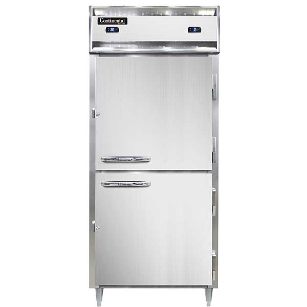 Continental Designer Line Refrigerator/Freezer Reach-in One-section - DL1RFX-SA-HD