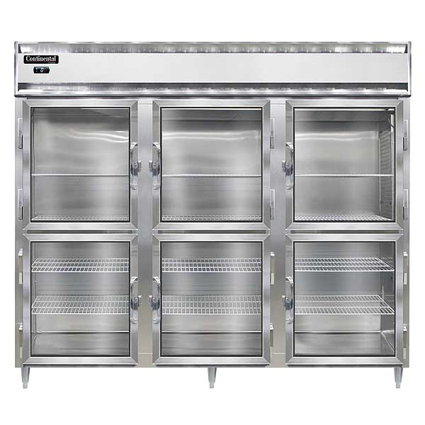 "Continental Designer Line Wide Freezer Reach-in 85-1/2""W - DL3FE-SS-GD-HD"