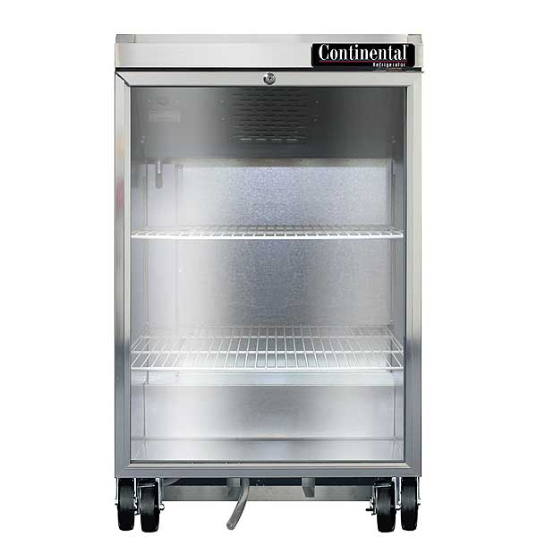 "Continental Refrigerated Back Bar Cooler 24""W 38-13/16""H - BB24NSSGD"