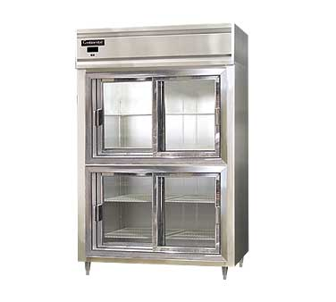Continental Designer Line Refrigerator Two-Section with Half Sliding Glass Doors - DL2R-SGD-HD