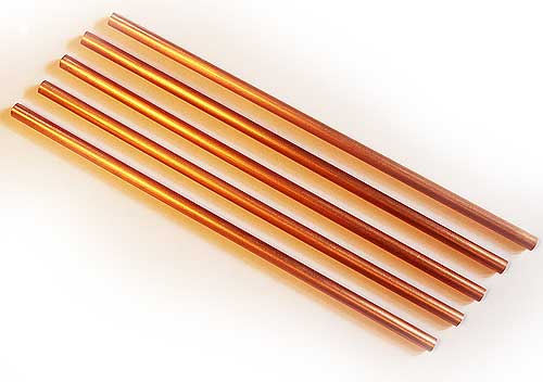 Solid Copper Straws - Set of Five