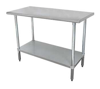 Advance Tabco Space Saving Stainless Work Tables ELAG